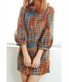 #Retro prints and puff sleeves