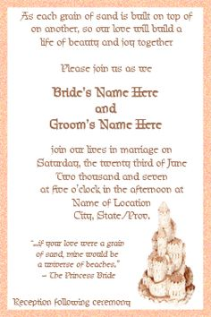 Wedding Invitation Wording | bride wants her wedding invitation ...