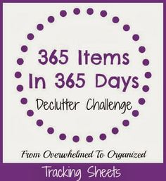 From Overwhelmed to Organized: Tracking Sheets for 365 Items in 365 Days!