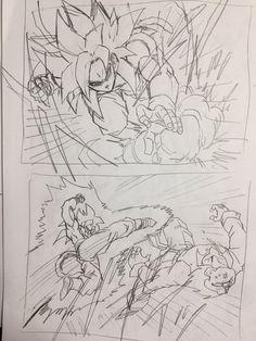 Young Jijii decides to rewrite a scene of Dragon Ball GT! Goku goes Super Saiyan 4 against a evil baby Gohan! #SonGokuKakarot