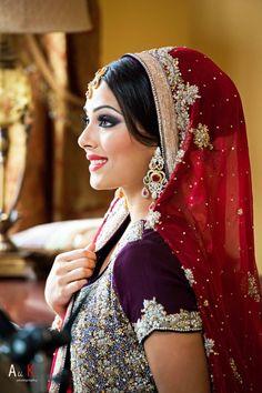 Beautiful Indian bride, smokey eyes