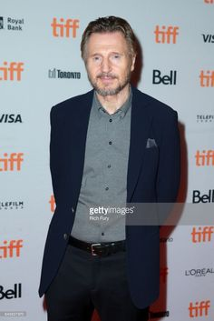 Liam Neeson attends the 'Mark Felt - The Man Who Brought Down The White House'premiere during the 2017 Toronto International Film Festival at Ryerson Theatre on September 2017 in Toronto, Canada. Royal Bank, Ralph Fiennes, Liam Neeson, Irish Men, International Film Festival, A Team, The Man, Theatre, September 11