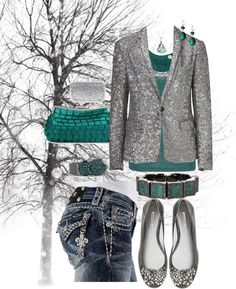 """Teal and Ice"" by crzrdnk77 on Polyvore"
