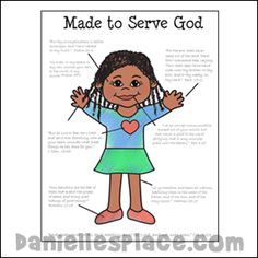 Made to Serve God Girl Coloring Sheet