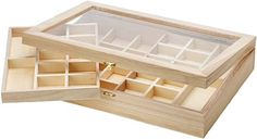 Amazon.com: Darice Organizer with Clear Top-Unfinished-15.75 x 11 x 3 inches Wood Oragnizer Unfinished Wood Boxes, Small Wood Box, Wood Storage Box, Lid Storage, Wood Tile Floors, Wood Chest, Old Frames, Wood Bedroom, Living Room Flooring