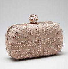 Alexander McQueen  Crystal Britannia Box Clutch, Pink