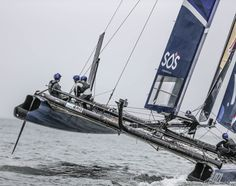 The New Zealand Red Bull Youth America's Cup team in #SanFrancisco bay 2013. #RBYAC #sos4champions