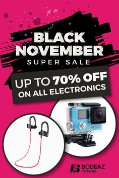 Get the best deals on gifts! Up to 70% off on all electronics through the entire month of Black November! Don't miss your discount, get yours today!
