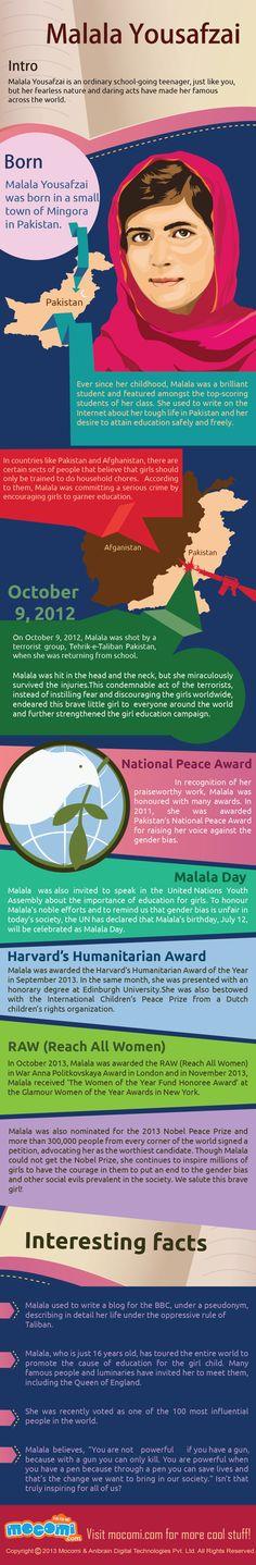 Malala Yousafzai #infographic #Malala #Pakistan