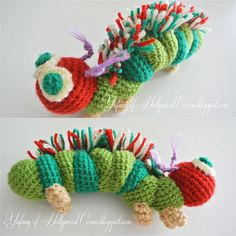 """cattepillar by Hollywood Cerise,"" #crochet  Crochet Pattern"