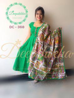 DC 368 For queries kindly whatsapp : 9059683293 Kalamkari Dresses, Ikkat Dresses, Kalamkari Designs, Churidar Designs, Dress Neck Designs, Blouse Designs, Long Gown Dress, Lehnga Dress, Indian Gowns Dresses