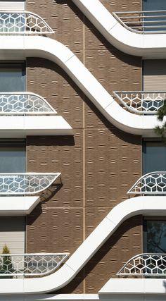Futuristic Architecture, Facade Architecture, Concept Architecture, Residential Architecture, Design 3d, Facade Design, Exterior Design, Architectural Design House Plans, Unique Buildings