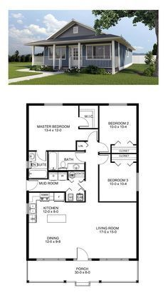 Cottage House Plan 99971 | Narrow lot house plans, Front porches and ...