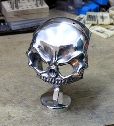 """Only GearHedz can tweak real pistons into art.  These """"Real"""" motorcycle and automotive piston are hand carved..."""