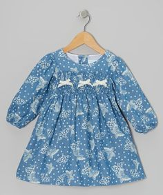 Take a look at this Ivory Butterfly Bow Dress - Infant & Toddler by Alouette on #zulily today!