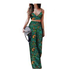 Two Piece Outfit, Two Piece Skirt Set, African Fashion Skirts, Pants For Women, Clothes For Women, Spring Summer, Costume, Sleeveless Crop Top, Short Tops
