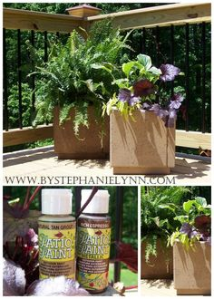DIY patio paver planters