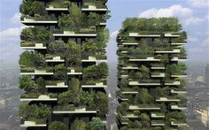Stefano Boeri Bosco Verticale apartment block being built in Milan. Imagine being up that high and still having greenery to look at - I think it's brilliant!
