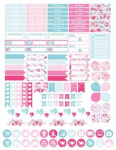 30% OFF SALE/Roses Planner Stickers/Erin by DesignStickerStore