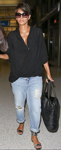 Halle Berrie's airport style.                                                                                                                                                                                 More