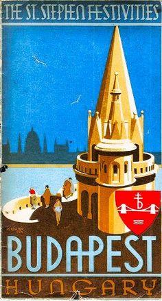 / budapest / travel poster /