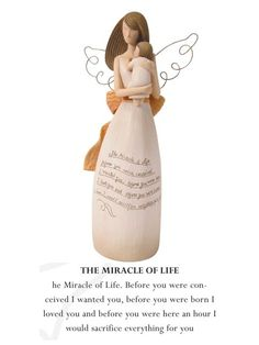 The Miracle of Life - Angel Ornament [cute baby shower idea]