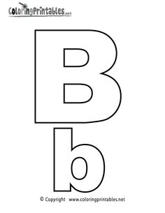 alphabet letter b coloring page a free english coloring printable - Letters To Color Printable Sheets