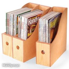 need a good way to archive your old how-to magazines? build these simple wood…