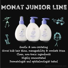 Treat your children to Monat Junior! Especially all the little girls with long, knotty, tangly hair.