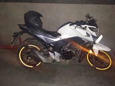 #honda#hornet#160r#dark#night#neon#white#ride