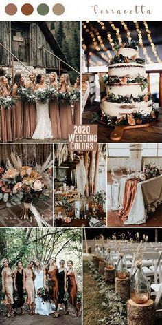 terracotta and greenery boho theme forest 2020 wedding color trend wedding colors Top 10 Wedding Color Trends to Inspire in 2020 Sage Wedding, Forest Wedding, Boho Wedding, Rustic Wedding, Dream Wedding, Wedding Rings, Destination Wedding, Fall Wedding Colors, Wedding Color Schemes