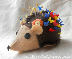 Hybrid hedgehog pin cushion, pattern at Fiona Marie's Thread