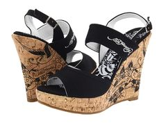 Image detail for -Ed Hardy Private Wedge - Black