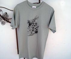 Mens Unisex Printed Shirt  Alice in Wonderland by SamsaraPrints, $15.00