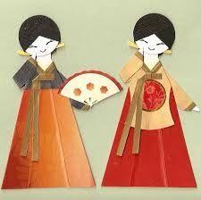 Resultado de imagen para como hacer origami de hanbok