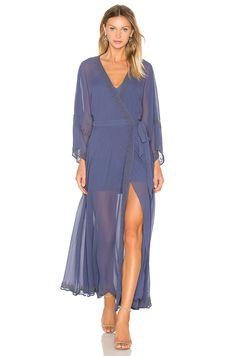 The Jetset Diaries Las Perlas Kimono Dress In Shadow Wrap Front Dress, Wrap Dress, Slate Blue Bridesmaid Dresses, Kimono Dress, Material Girls, Revolve Clothing, Ladies Dress Design, Designer Dresses, Designer Clothing