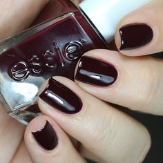 Essie Model Clicks - dark oxblood red #nail polish / lacquer from the gel couture line