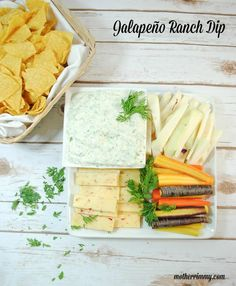 Slender Jalapeno Ranch Salad Dressing and Vegetable Dip- Is there anything you can't eat with this dip? Serve with veggies, on salad, or as a dip for chips or chicken tenders.