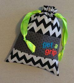 639db50adc45 Item(G1) Personalized Gymnastics Grip Bag Get a Grip Neon