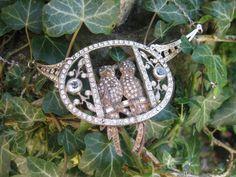 Vintage Art Deco rhinestone birdcage upcycled necklace repurposed