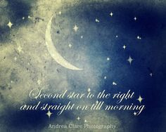 Peter Pan Quote Photograph Fine Art Photo Star by PhotoReverie, $25.00