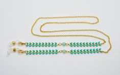 Farbige Brillenkette mit Chevron – Sista Jewelry Mint, Turquoise Bracelet, Chevron, Pearls, Bracelets, Jewelry, Rhinestones, Eyeglasses, Neck Chain