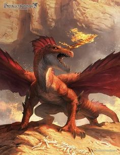"""Red Dragon"" by ameeeeba @ deviantart"