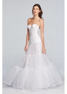Ball Gown Silhouette Slip Ballgownslip Wedding Dress Undergarments Accessories Davids Bridal