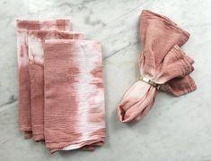 Flour Sack Shibori Napkins, terracotta: set of 4 Linen Napkins, Napkins Set, Flour Sack Towels, Tea Towels, Shibori Techniques, Baby Swaddle Blankets, Dusty Rose, Terracotta, Crafty