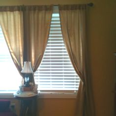 Homemade Curtains I Used One Twin Flat Bed Sheet And Pinned Back Each Panel With