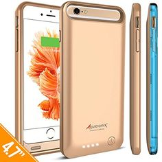 iPhone 6S Battery Case, iPhone 6 Battery Case, Alpatronix® [BX140] MFi Apple Certified 3100mAh External iPhone 6S/6 Battery Case Removable Rechargeable Protective iPhone 6s/6 Charging Case [Ultra Slim Portable iPhone6 Charger Case / Full Support with iOS 9+ & Apple Pay / iPhone6s Extended Battery Case / Lightning Connector Output / No Signal Reduction / Fits all colors for iPhone6S for Juice Bank & Power Pack] 100% Satisfaction Guaranteed! – (Gold with 1 Extra Bumper)  http://www.ins..