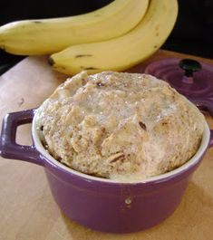 Baked Banana Bread Oatmeal (E) *Use 1/2 of a banana *Use stevia to sweeten *Almond Milk instead of regular