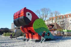 Parrot Playground by Danish design firm Monstrum.