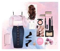 """""""PRETTY IN PINK"""" by rainbowpoptart-lover ❤ liked on Polyvore featuring beauty, Alessandra Rich, River Island, Bebe, Thomas Sabo, NARS Cosmetics, Yves Saint Laurent, Vincent Longo, MAC Cosmetics and Clarins"""